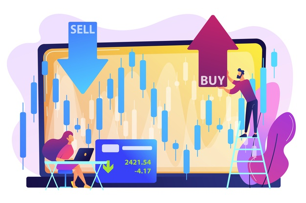 tiny-people-stock-traders-laptop-with-graph-chart-buy-sell-shares-stock-market-index-stockbroking-company-stock-exchange-data-concept_335657-1160